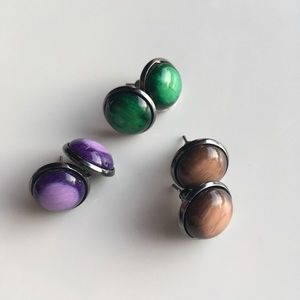 NEW! Modern Wash Stud Earrings
